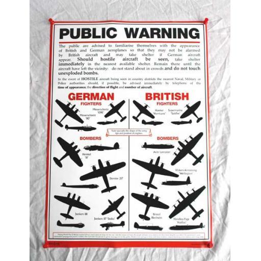 WW2 Aircraft Poster