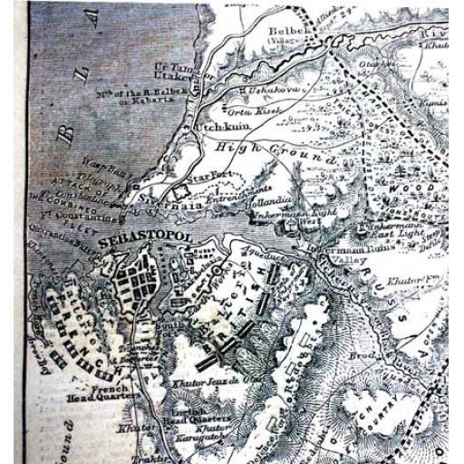 1855 Map of Balkans (Florence Nightingale)