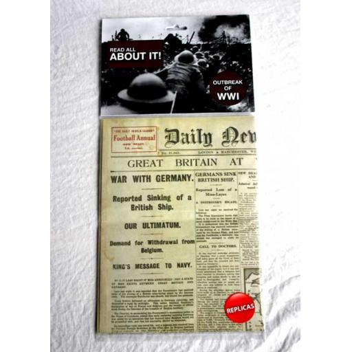War Breaks Out Newspaper