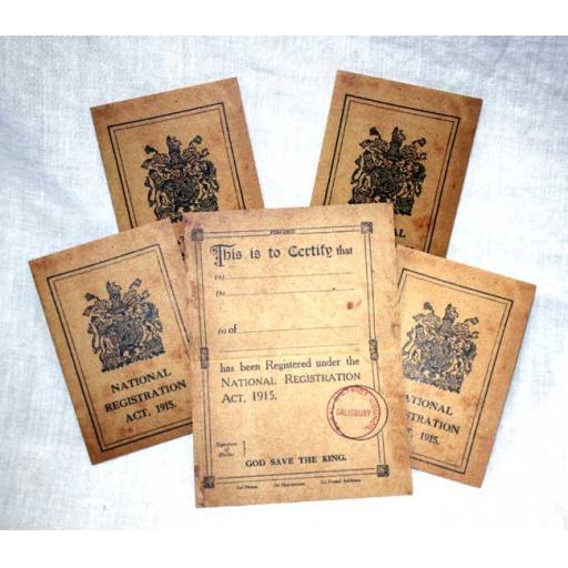 5 Registration Cards