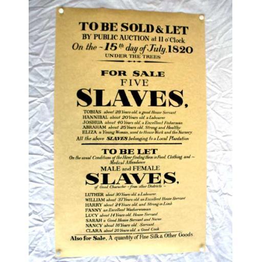 Slave Sale Poster