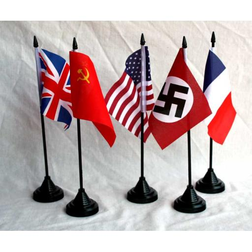 5 x Table Flags