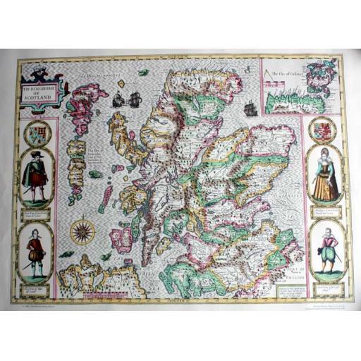 Map of Scotland 1610