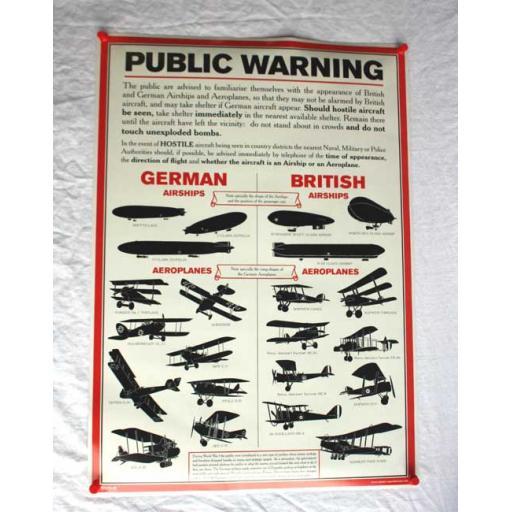 WW1 Aircraft Poster
