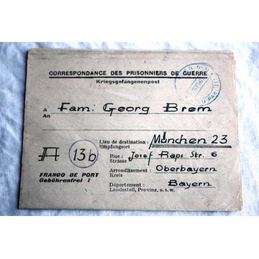 German PoW Letters Home
