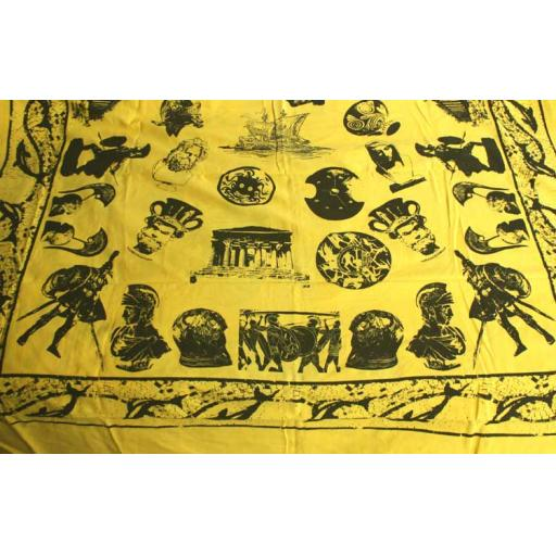 Yellow Ancient Greece Display Drape