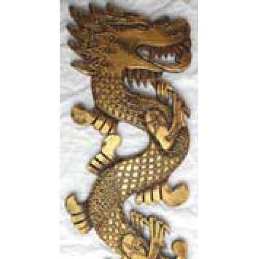 Gold Dragon Plaque