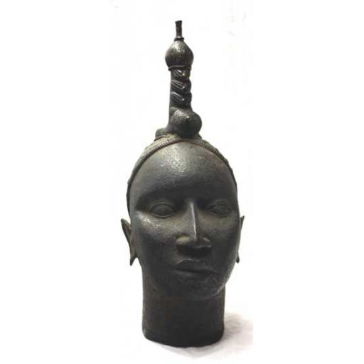 Old Bronze Benin Head