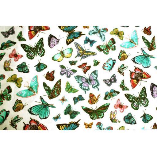 Cream Butterflies Textile