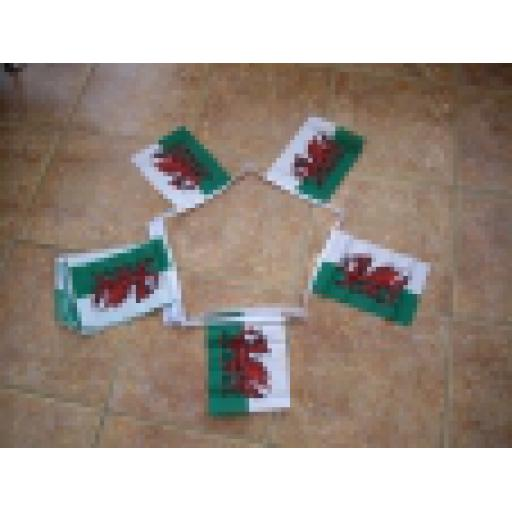 Bunting Welsh Dragon - 3m