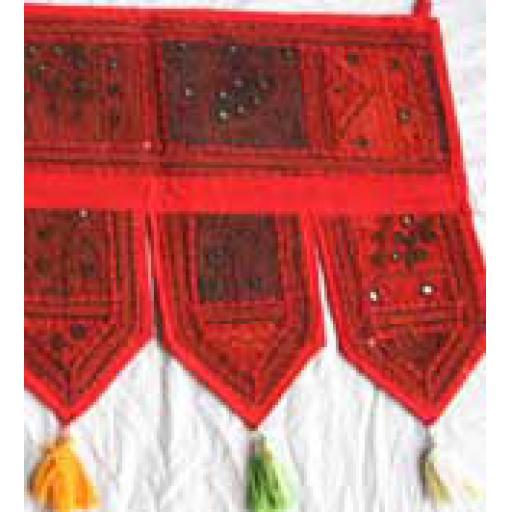 Red Patchwork Toran