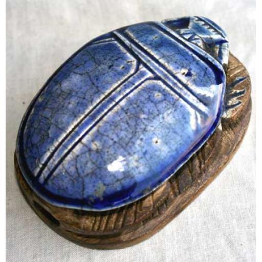 Large Carved Scarab
