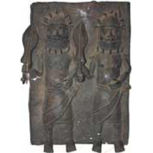 Large Bronze Benin Plaque