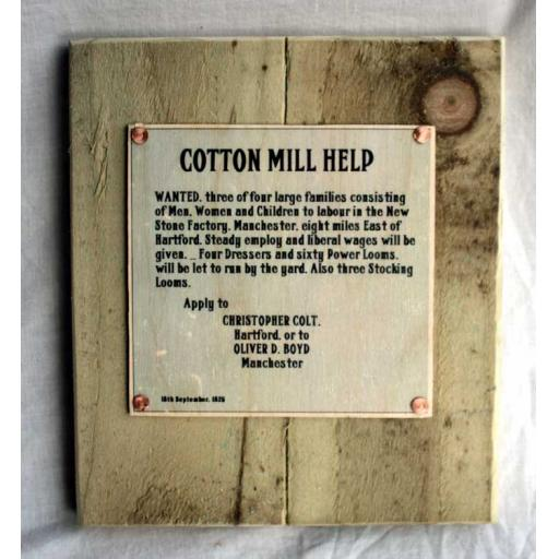 Cotton Mill Sign