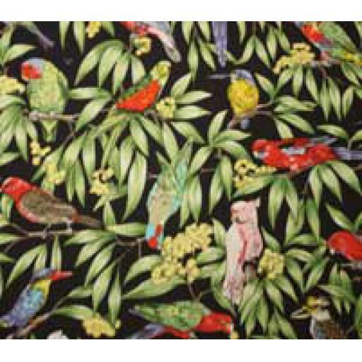 Rainforest Birds Textile