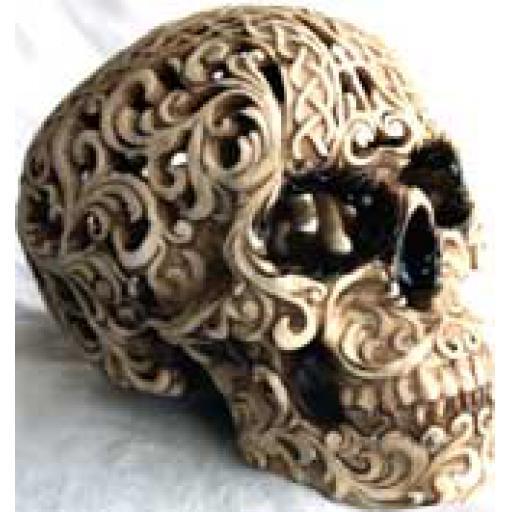 Large Engraved Skull