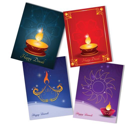Diwali Cards (Pack of 4)