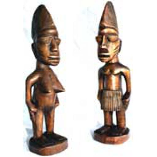 Pair Ibeji Figures