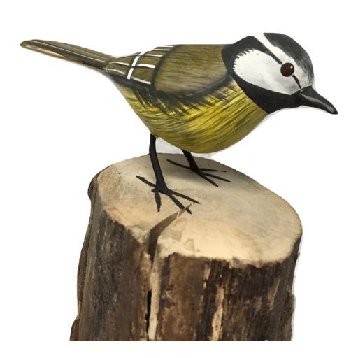 Carved Great Tit