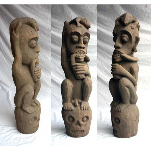 Large Carved Spirit Figure