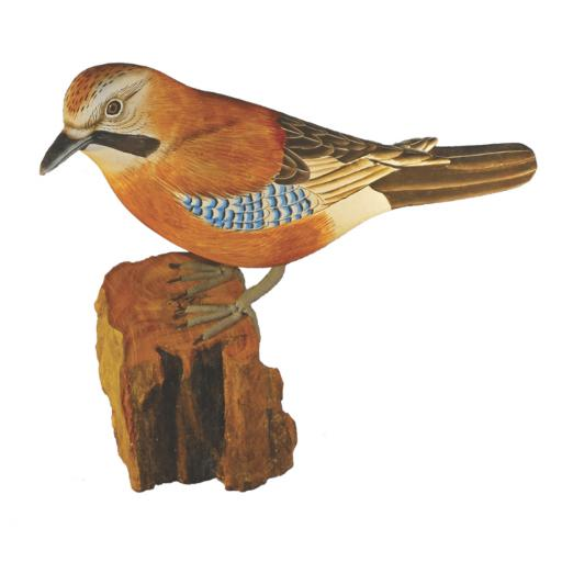 Carved Wooden Jay