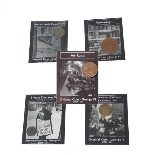 5 x Replica WW2 Coins