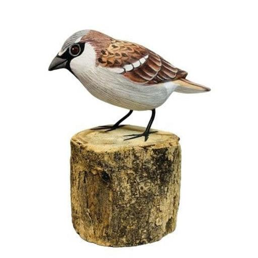 Carved Wooden Sparrow