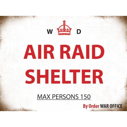 Air Raid Shelter Metal Sign