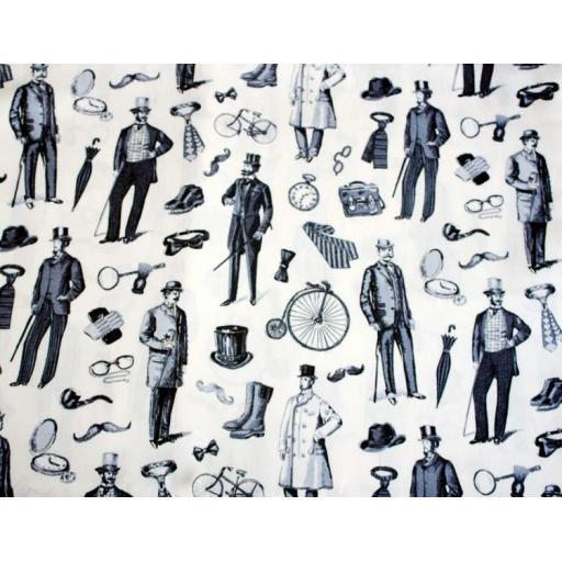 Victorian Black and White Textile