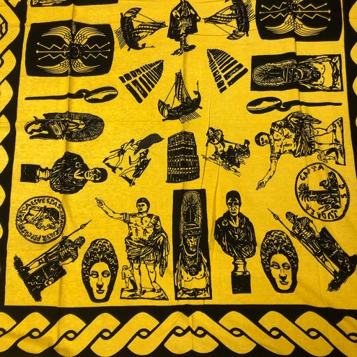 Yellow Roman Display Drape