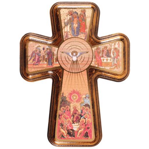 Holy Spirit Wood Cross 5 1/2 inch