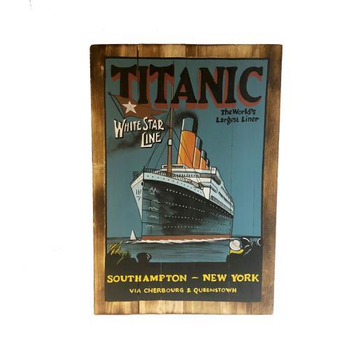 Titanic Wooden Sign