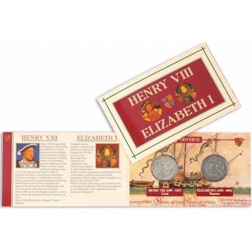 Henry VIII and Elizabeth I Coin Pack