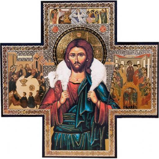 Wood Cross/Icon - Good Shepherd