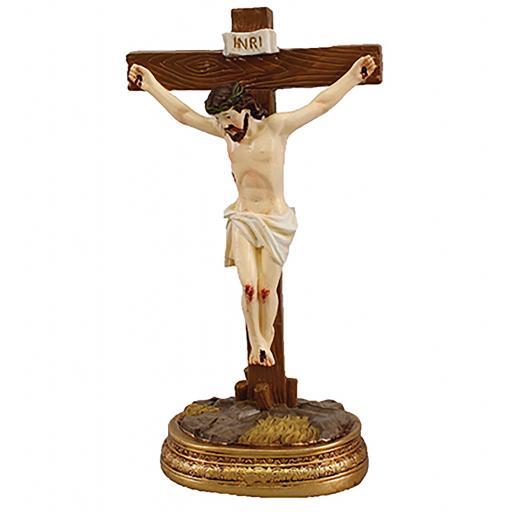 Renaissance Resin Standing Crucifix