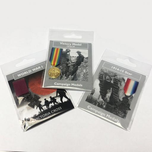 Set of 3 Replica WW1 Medals