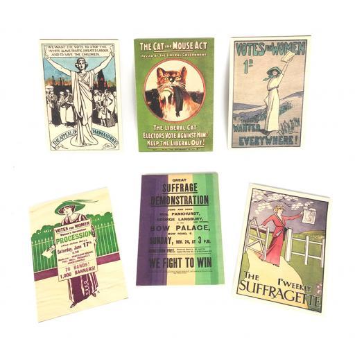 Suffragettes Wooden Postcards Set