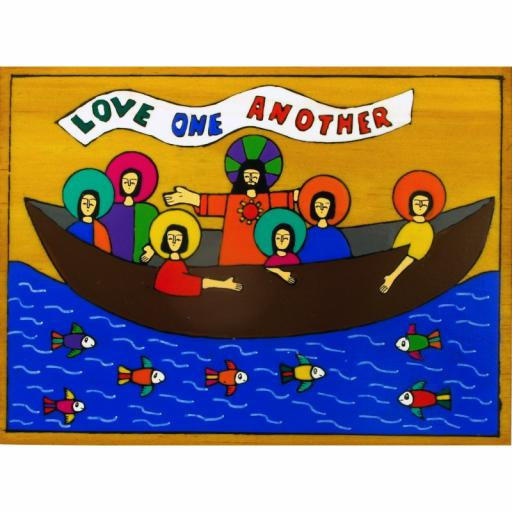 Love One Another Wooden Plaque