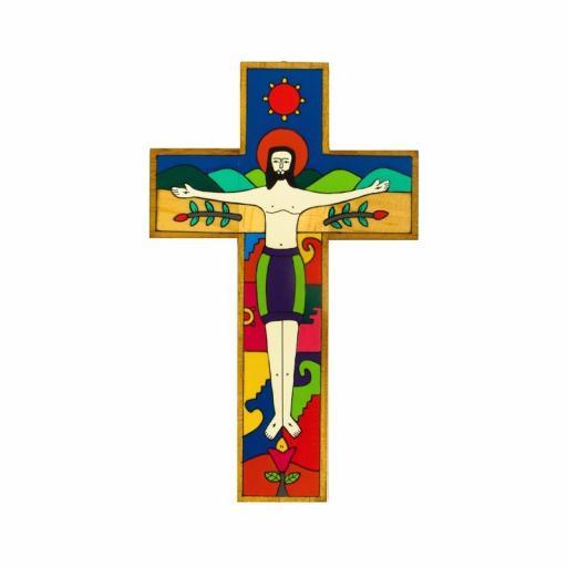 Crucified Christ Cross - 15cm