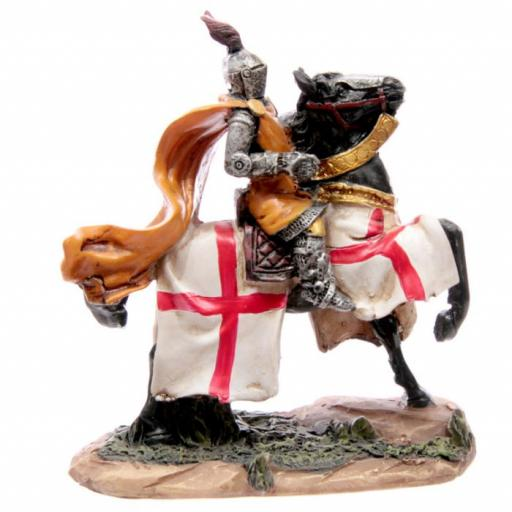 Knight on Horseback with Gold Cape