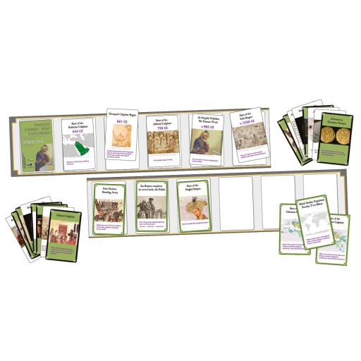 Muslim Empire and Explorers Interactive Timeline Cards