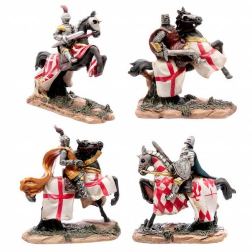 Set of 4 Knights on Horses