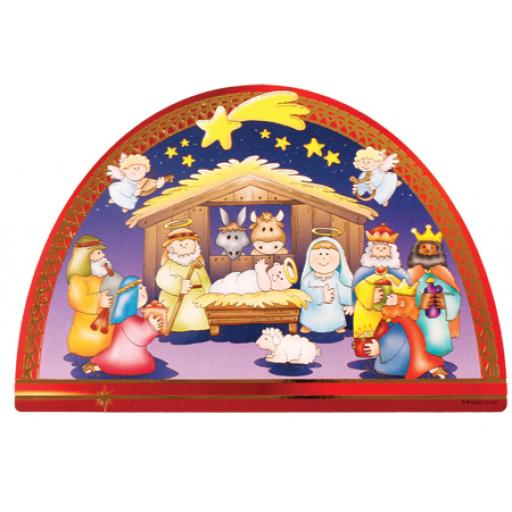 Wooden Nativity Plaque