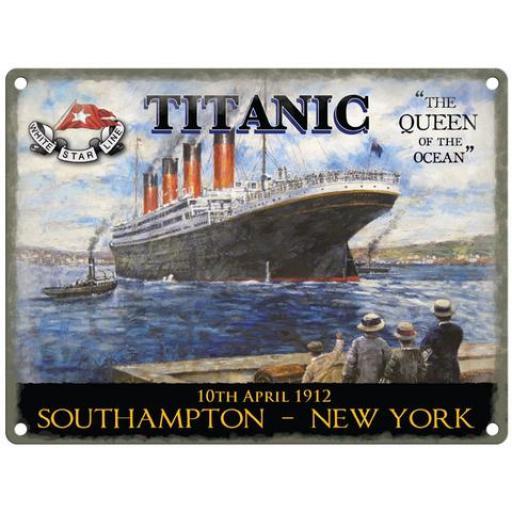 Titanic Small Metal Sign