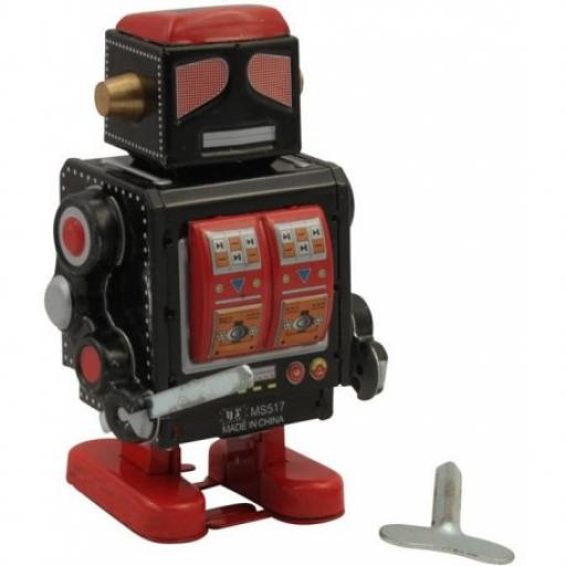 Black and Red Robot