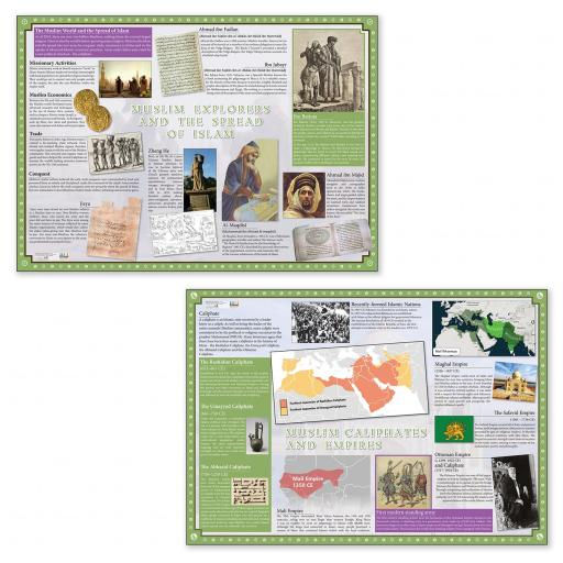 Muslim Empire and Explorers Poster Set