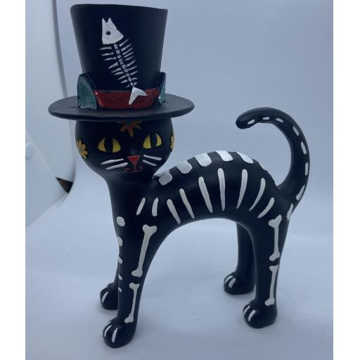 Day of the Dead Cat in a Hat