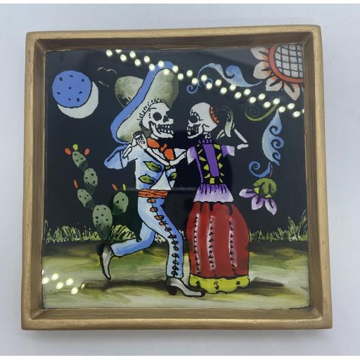 Day of the Dead Dancing Couple in Frame