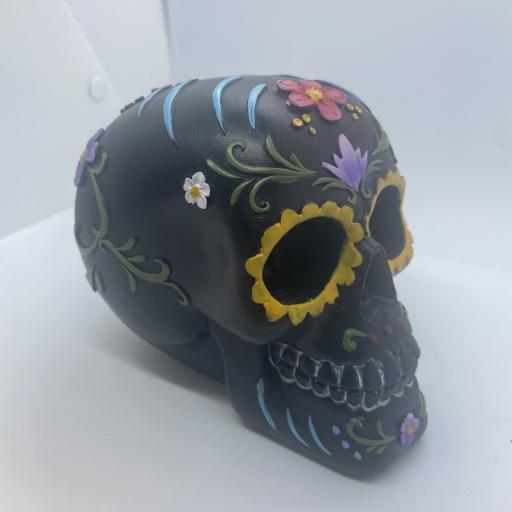 Black Day of the Dead Skull
