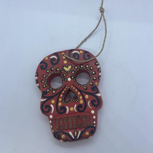 Day of the Dead Hanging Skull